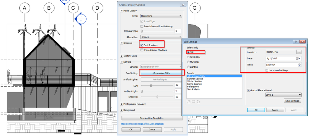 Solved Shadow Not Being Cast In Elevation Revit Lt Autodesk
