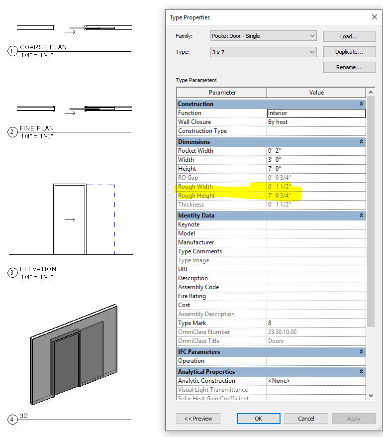 Re: Pocket Door W/ Correct RO Size?