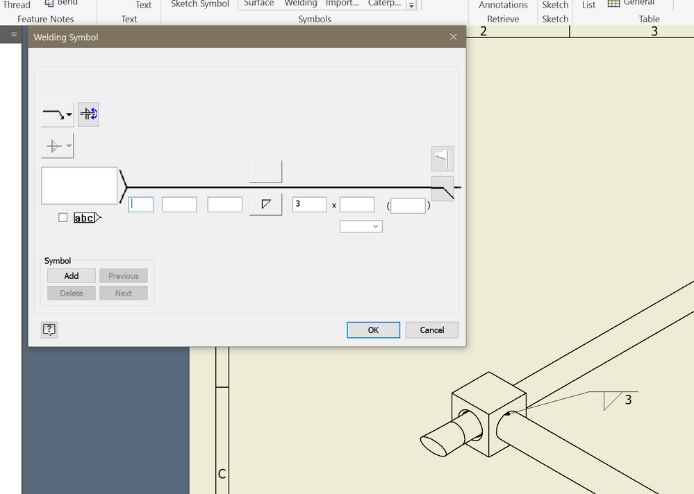 Solved Where Is The Weld All Round Symbol Autodesk Community