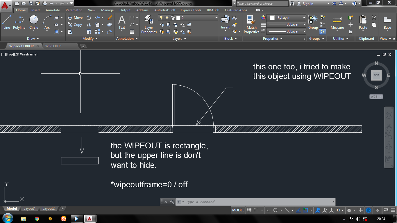 Autocad Wipeout Settings