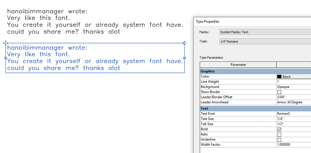 Ttf Font Similar To Romans Shx Autodesk Community Revit Products