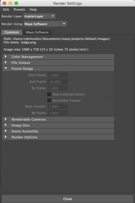 Solved: Frame Range grayed out in render settings - Autodesk ...