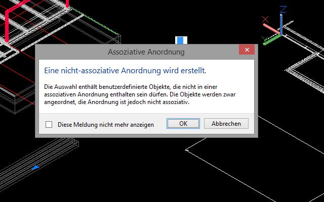 ACA 2015 - Assoziative Anordnung Träger, Stütze etc. nicht möglich ...