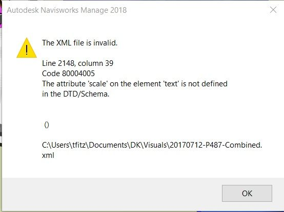 navisworks 2018 viewpoints import error autodesk community navisworks
