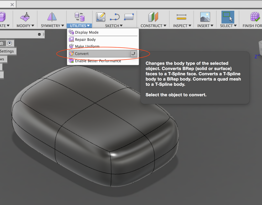 Solved Creating A Solid From A T Spline Extrusion Autodesk