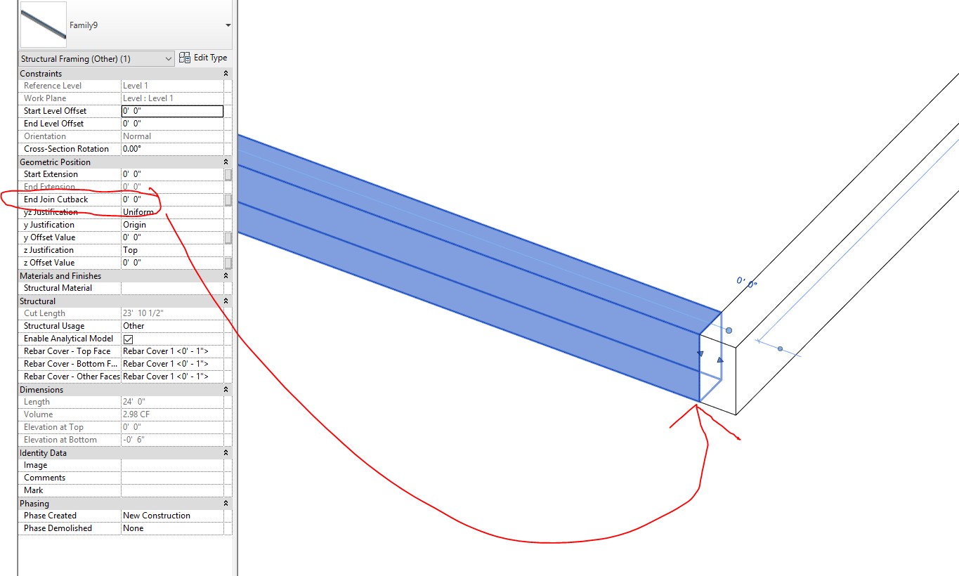 Structural Framing Cut Back Not Working Correctly - Autodesk ...
