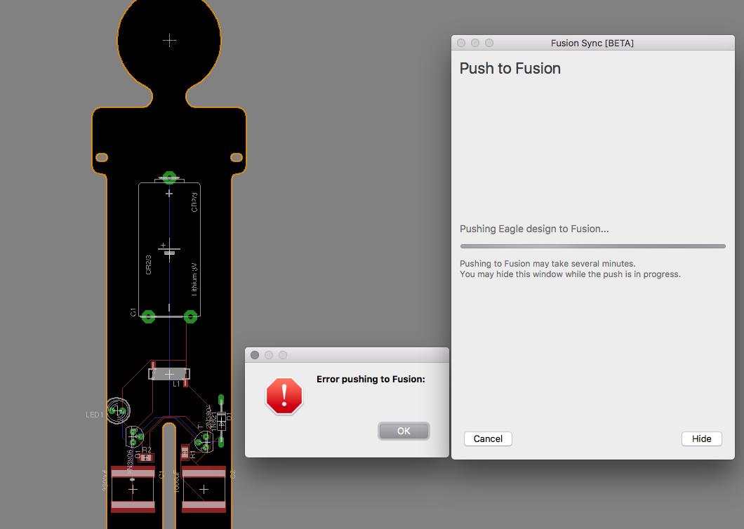Fusion - Eagle PCB Sync error locks me out of fusion design ...