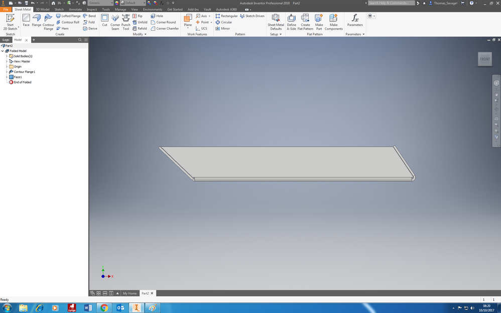 Solved Sheet Metal Flanges On Angles Autodesk Community Inventor
