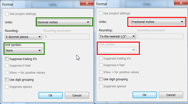 Enable The Possibility To Remove The Unit Symbol For Fractional