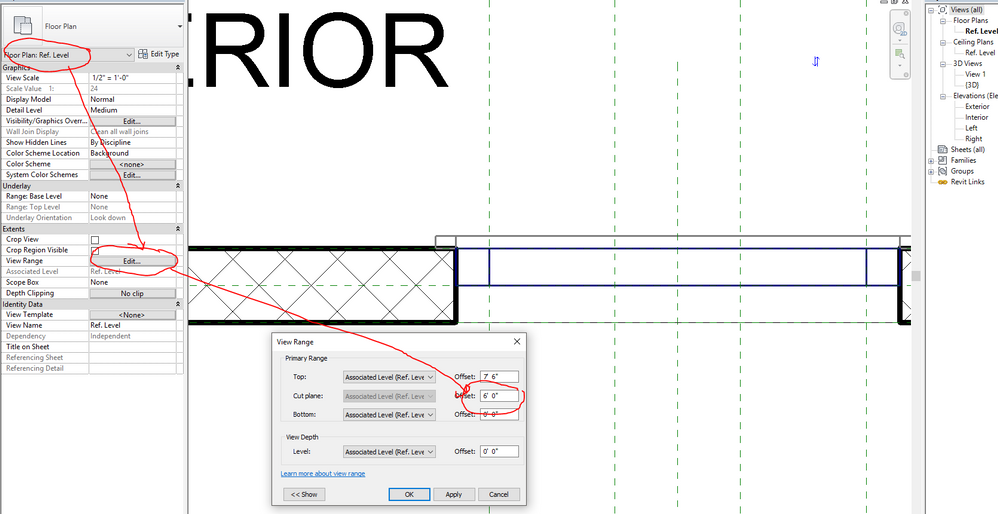 Solved Extrusion Not Not Showing In Plan View Autodesk Community Revit Products