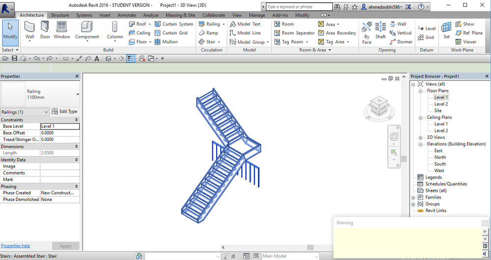 Railing issue will be solved if you select your railing and (pick a new host ) and select the stair which you want to fit your railing on as shown in ...  sc 1 st  Autodesk forums & Solved: Canu0027t edit railings in Multi level stairs - Autodesk ...