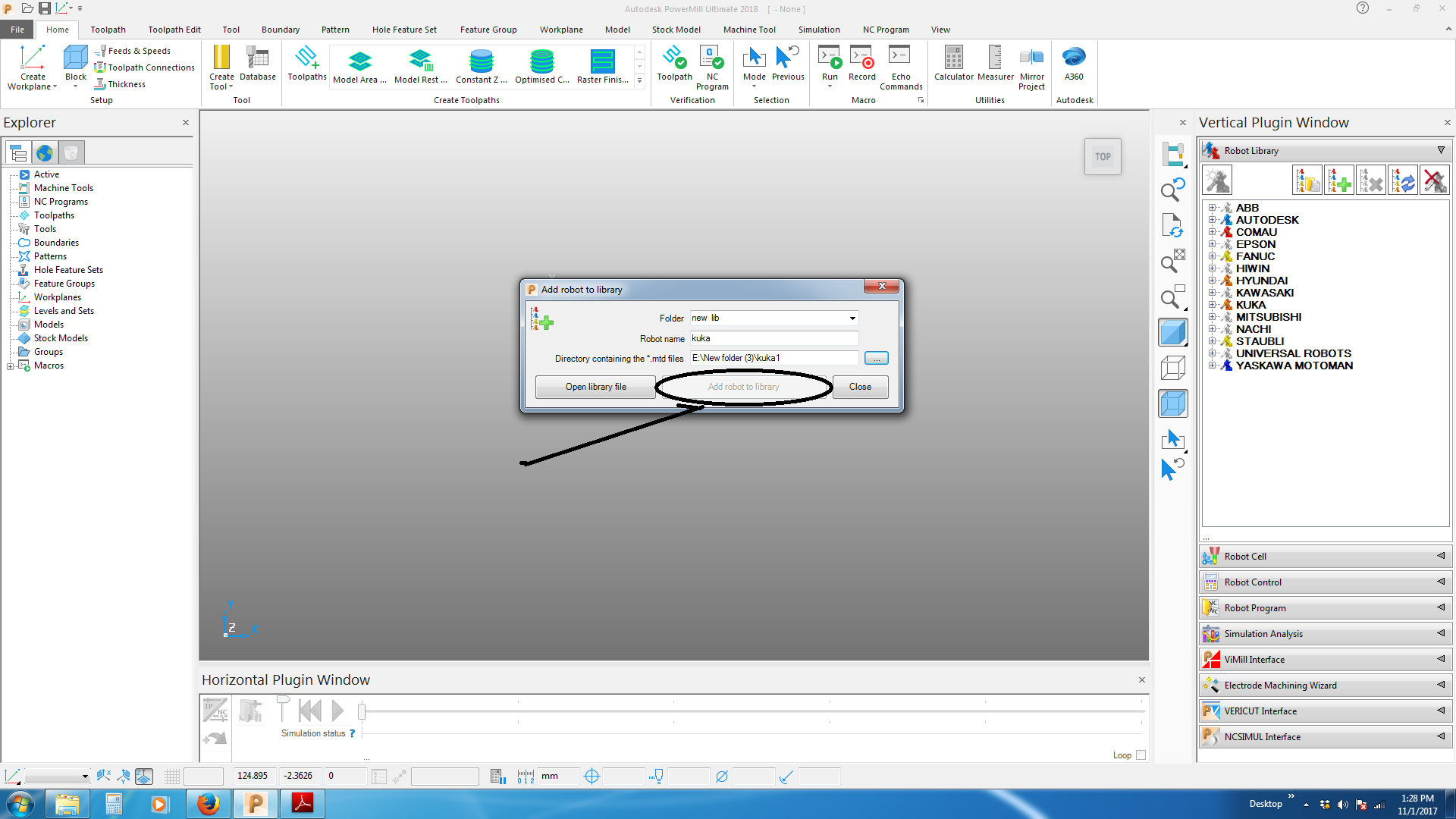 how to do setup of robot in power mill autodesk community powermill