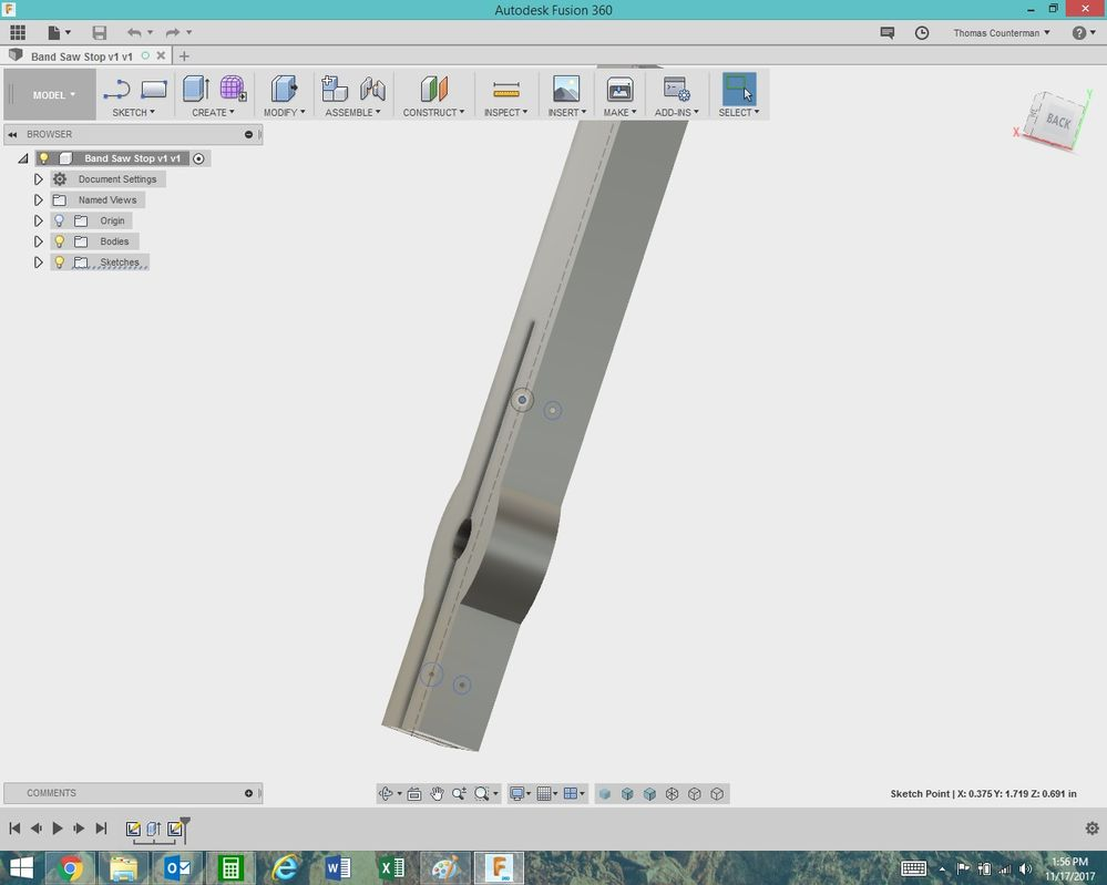 Drawing On Other Side Of Object Autodesk Community Fusion 360