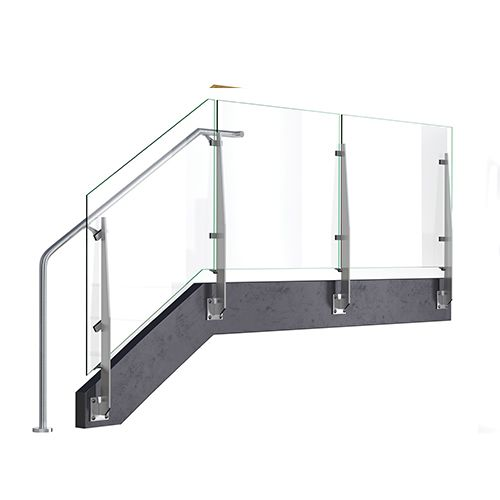 Two Railing Types Used Stair 4