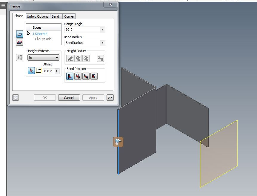 Solved The Extents Feature Is Grey Out In Contour Flange Of Sheet Metal Autodesk Community Inventor