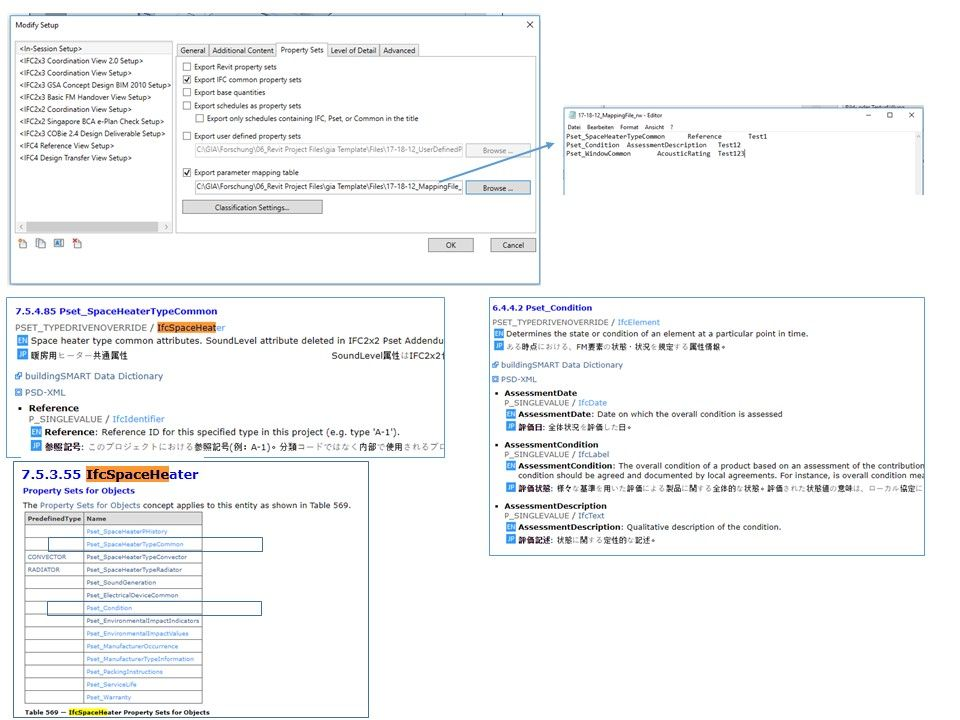 mapping of revit parameters to ifc parameters for export autodesk