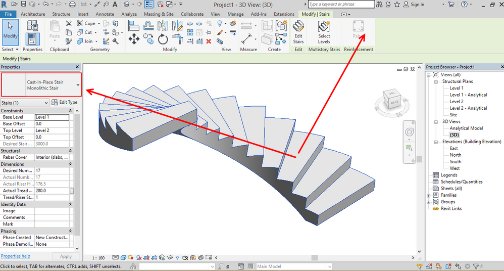 How To Add Reinforcement To Spiral Stairs Autodesk Community Revit Products
