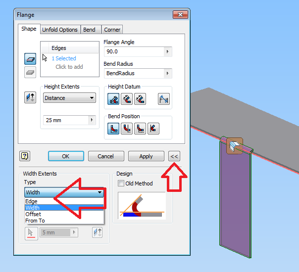 Solved Sheet Metal Flange Only On Partial Edge Autodesk Community Inventor