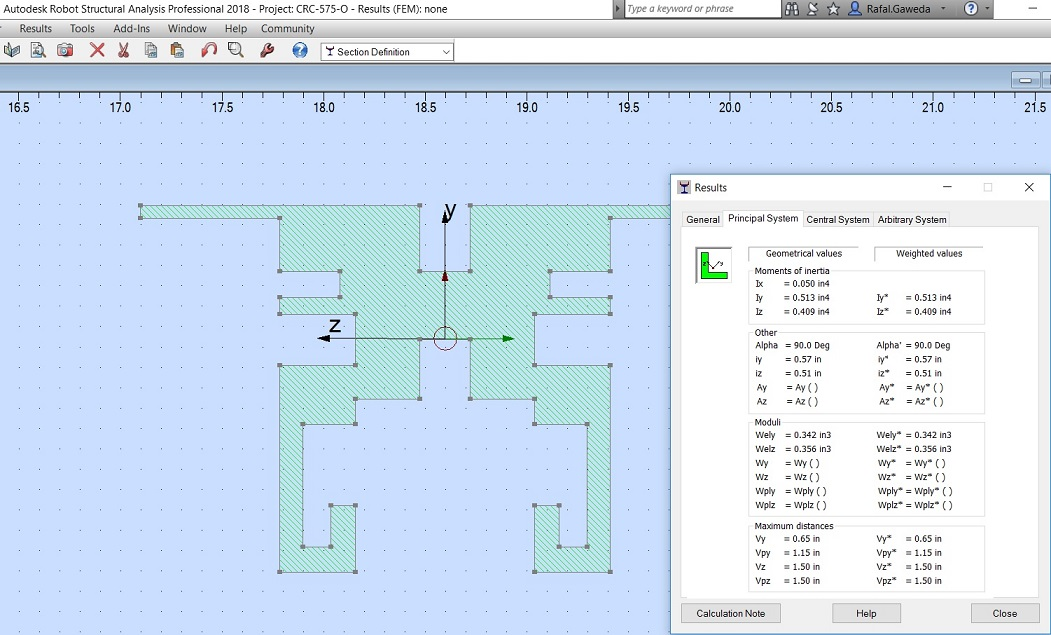 Section Properties - Autodesk Community- Robot Structural Analysis ...