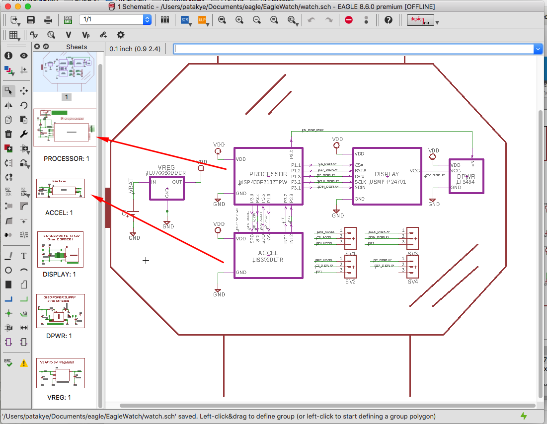 Difference between hierarchal schematics and desing blocks - Autodesk  Community- EAGLE