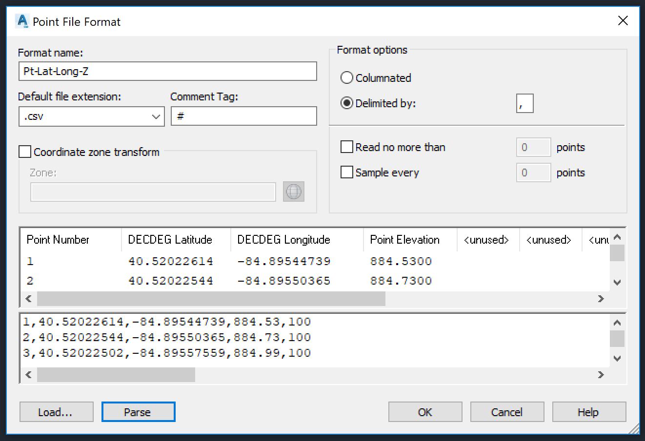 solved importing lat longs autodesk community civil 3d