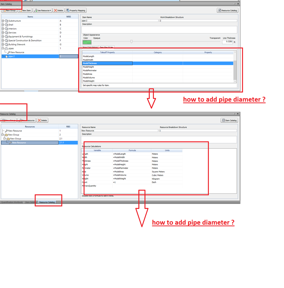 see the attached ...  sc 1 st  Autodesk forums & How to add new parameter in quantification table ? how to add pipe ...