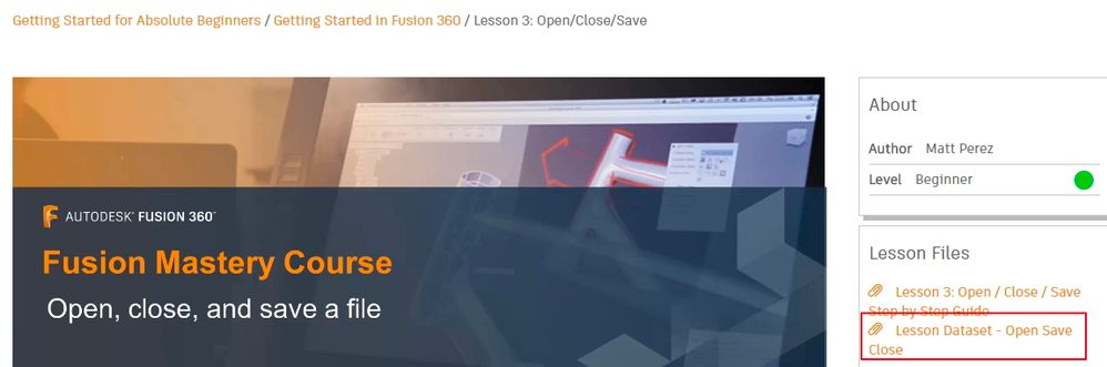 cannot find sample file for the getting started in fusion 360 rh forums autodesk com Tutorial Autodesk Sketh Autodesk 2013 Tutorials