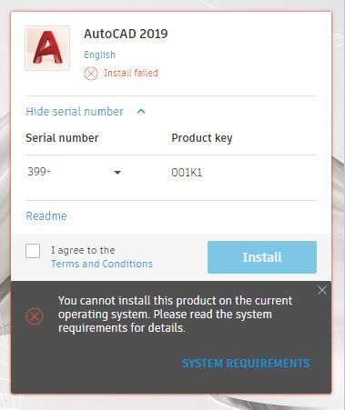 autocad 2019 system requirements