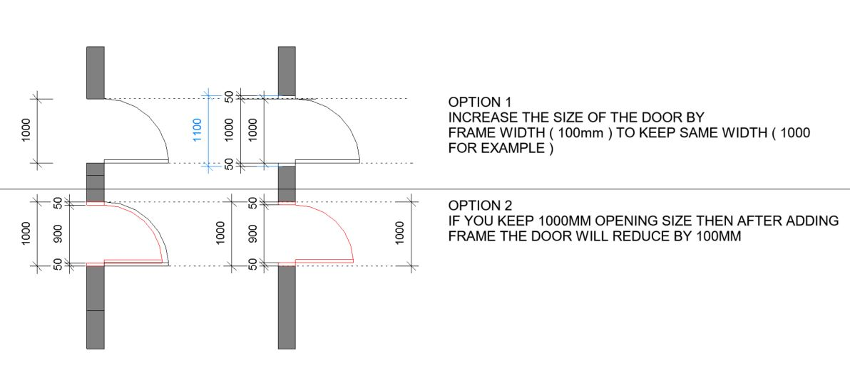 Door Frame Inserts Beyond Wall Autodesk Community Revit Products