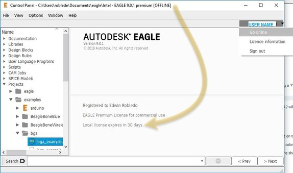 Solved: Eagle Trial using free version offline - Autodesk Community ...