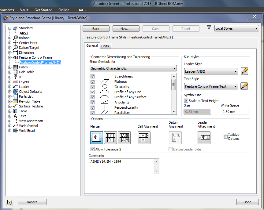 Asme Y145 2009 Autodesk Community Inventor Products