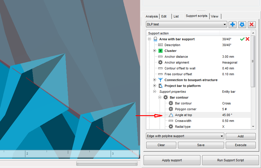 Bar Support tip geometry - Autodesk Community- Netfabb