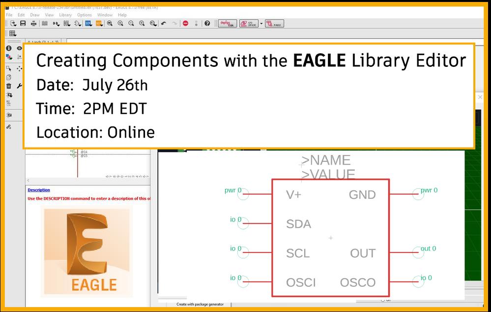 EAGLE Library Editor - Autodesk Community- EAGLE