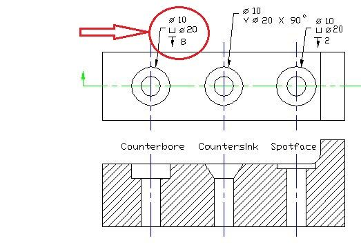 Solved How To Insert Counterbore Symbol In Dimension Autodesk