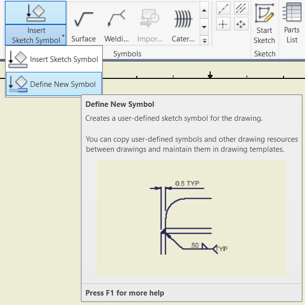 Attaching Symbols To Section Lines Autodesk Community Inventor