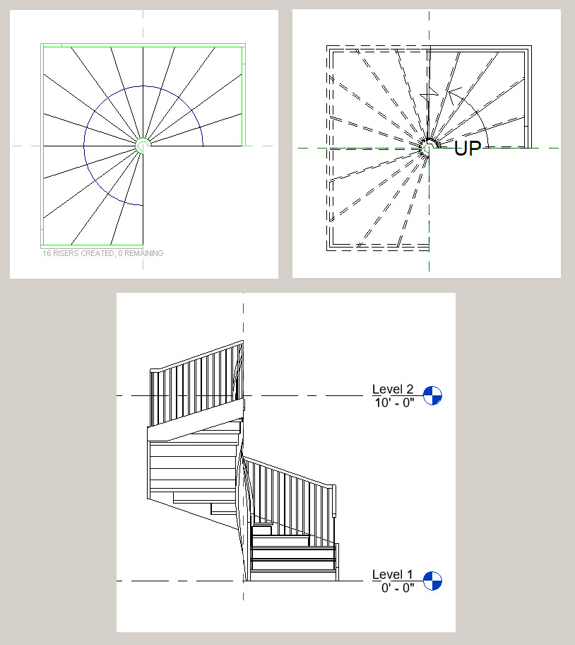 Solved Square Spiral Stair Case Autodesk Community Revit Products