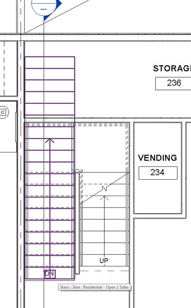 Genial ... Plan Of A 3 Story Plan, You Can See The Level 1 Stairs And The Level 2  Stairs. Is There A Way To Stop Their Length In The Views? See Attached Pic.