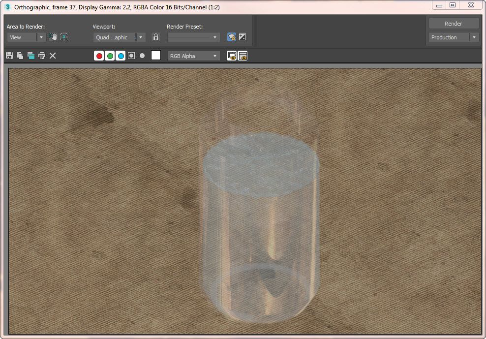 glass material rendering using quicksilver 3DS Max 2019 - Autodesk