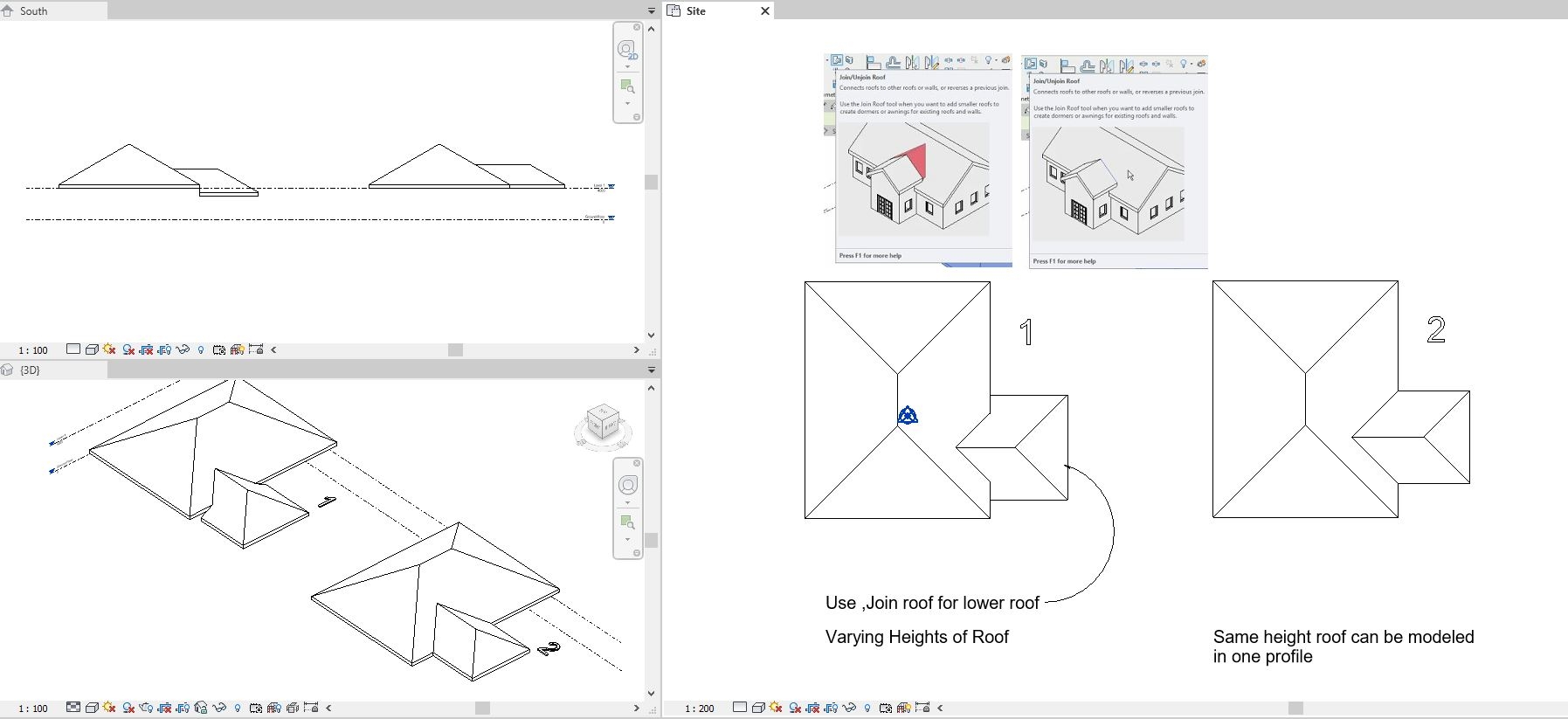 Creating Roof For Multiple Wall Heights And Overlapping Roof Sections Autodesk Community Revit Products