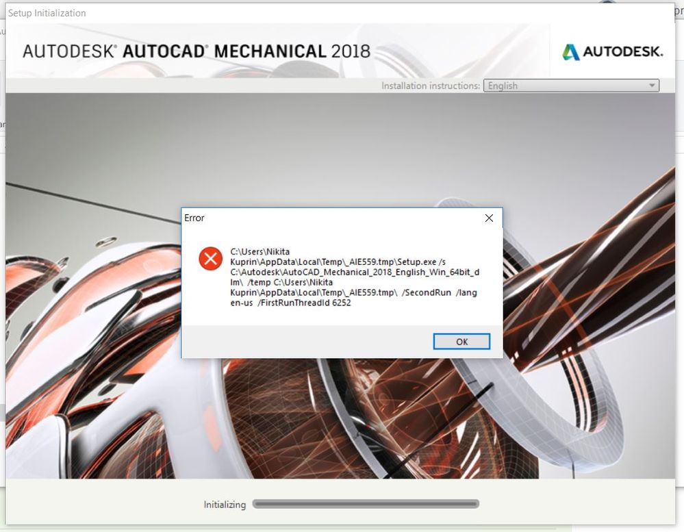 Solved  Problem With Installing Autocad Mechanical 2018 On