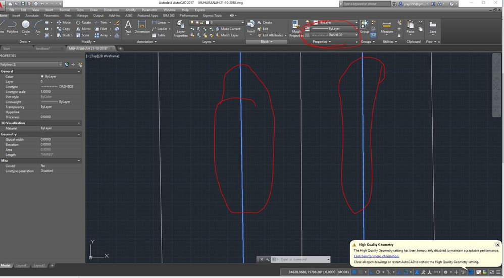 Solved How To Increase The Dashed Line Type Space Line Autodesk Community Autocad