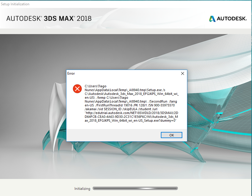 Error at start of installation 3ds Max - Autodesk Community