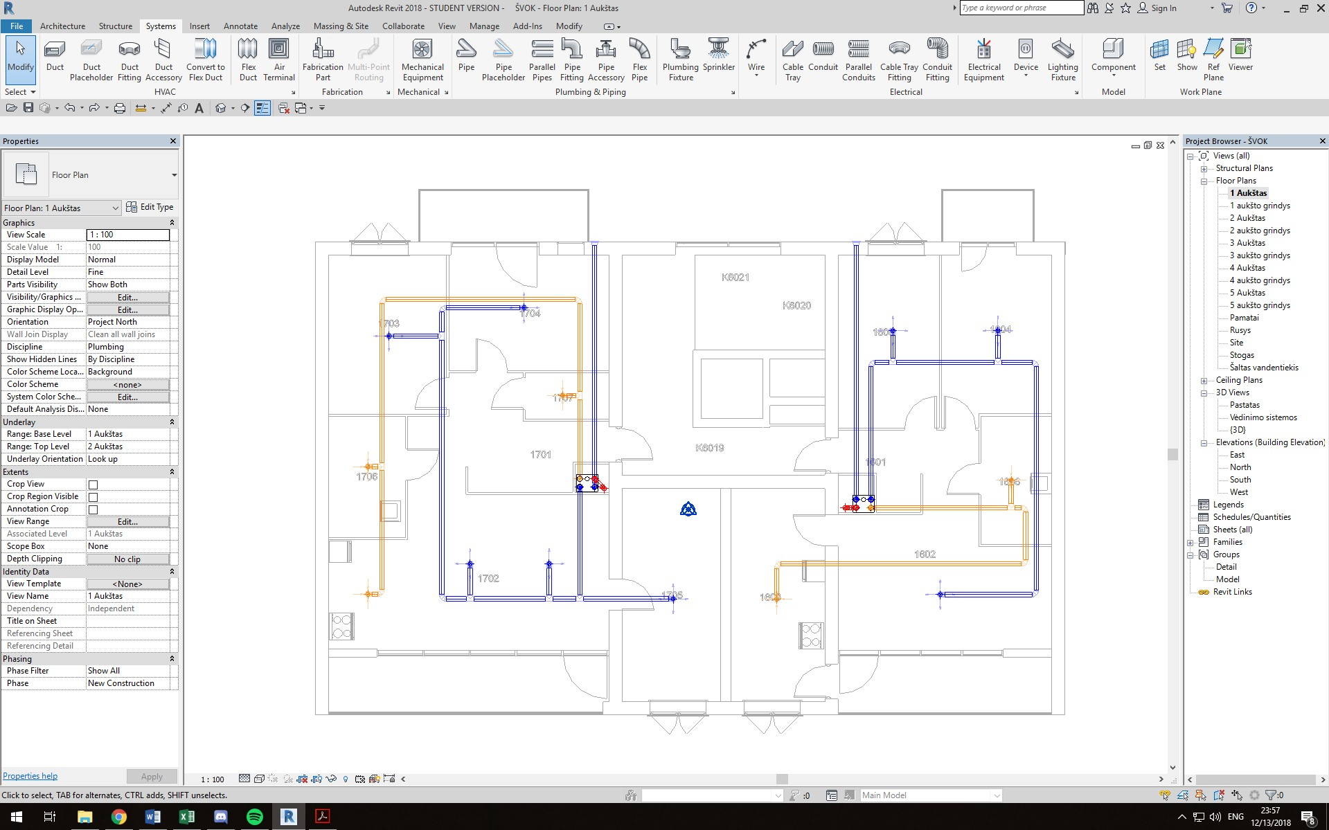 Cannot Access Duct Fittings From The Floor Plan Autodesk Community Revit Products