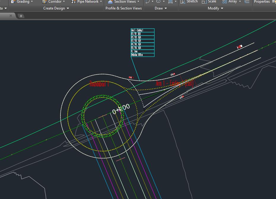 Solved British Roundabout Design Autodesk Community Civil 3d
