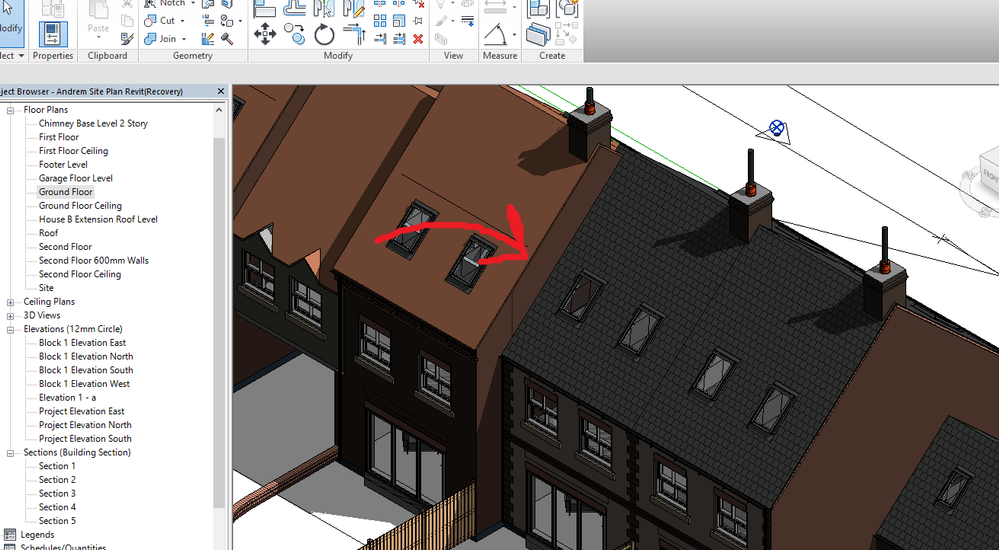 Solved Single Wall Attach To Two Roofs Autodesk Community Revit Products