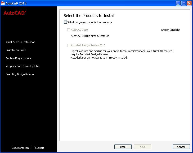 Autocad 2010 Already Installed Error