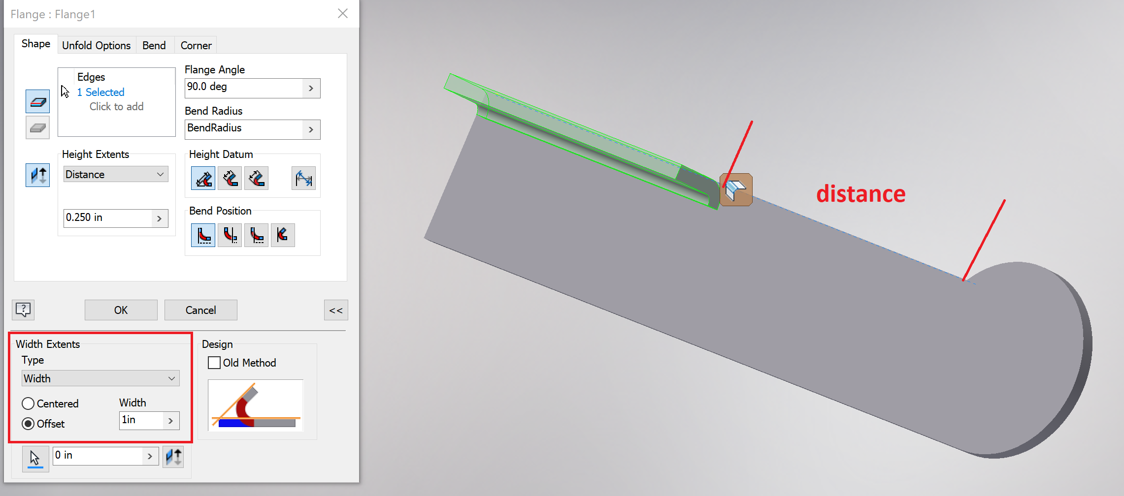 Solved Sheet Metal With Partial Fold Autodesk Community Inventor