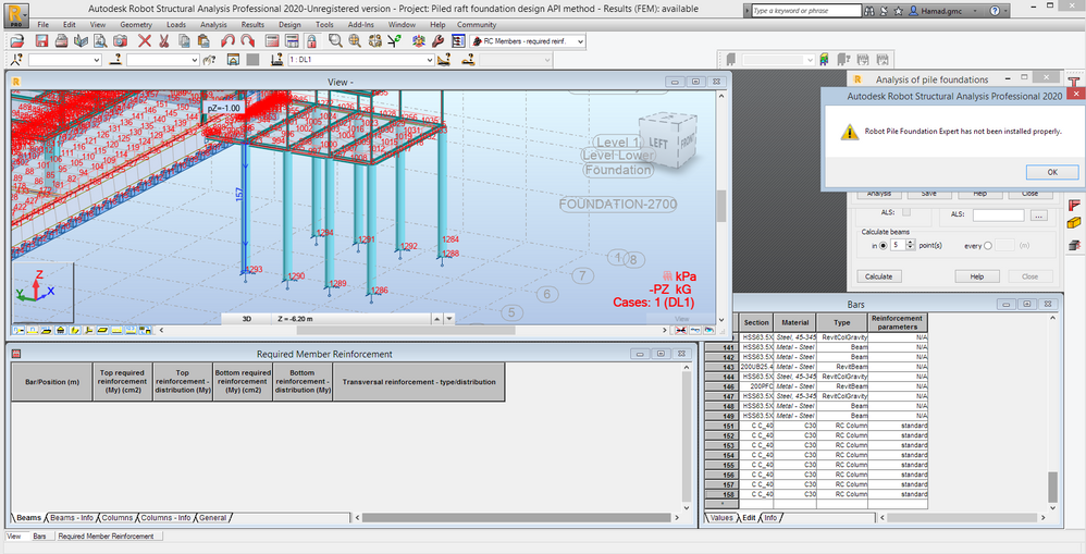 Pile Raft Design Autodesk Community Robot Structural Analysis Products