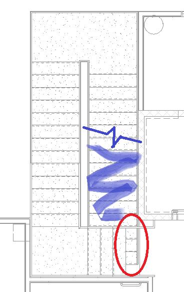 Stair visibility last run