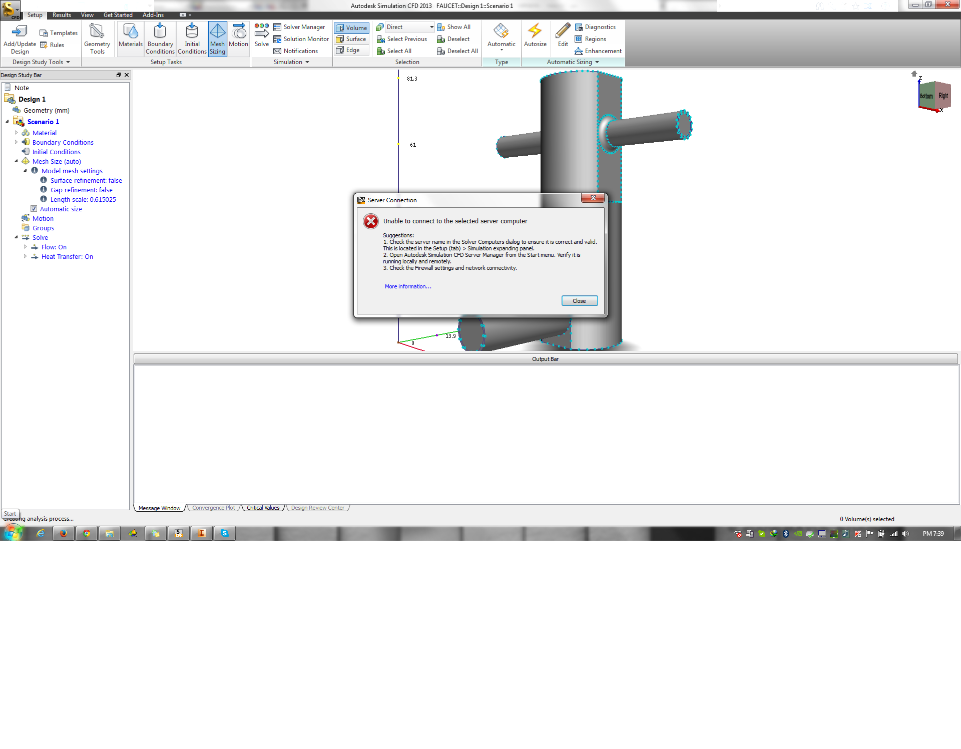 unable to connect to the selected server computer autodesk rh forums autodesk com Autodesk Simulation CFD 2014 Autodesk Inventor 2014